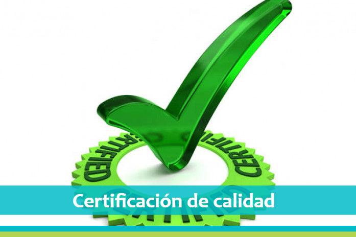 certificacion de calidad